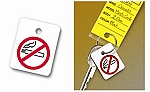 No Smoking Logo Key Fobs (100)